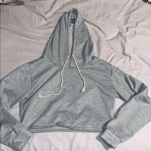Tops - Grey Cropped Hoodie Size Small